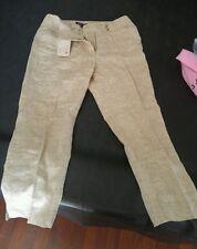Jones New York Signature Womens Striped Pants 100% Linen Size 8 EUC