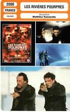 FICHE CINEMA : LES RIVIERES POURPRES - Reno,Cassel,Kassovitz 2000 Crimson Rivers