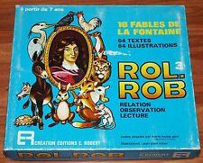 ROL. ROB 3 Relation Observation Lecture Fables de LA FONTAINE E. ROBERT COMPLET