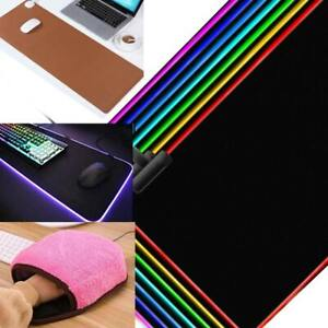 Large Gaming Mouse Pad Oversized Glowing Mat + Colorful Lights Desk Mats Lot