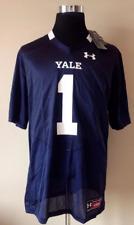 Yale Bulldogs Under Armour Men's Replica Football Jersey Shirt, Navy Blue, Large