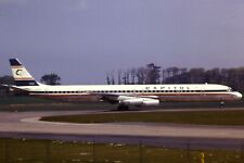 Original 35mm Colour Slide of Capitol Airways Douglas DC-8-63CF N4908C in 1975