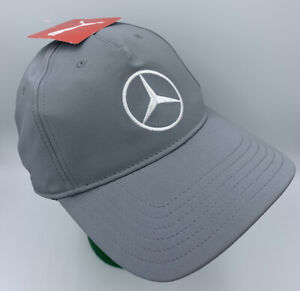 NWT PUMA x MERCEDES BENZ HAT Embroidered Crested Logo GRAY CAP ~ STRAPBACK