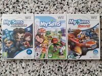 wii My Sims 3-game bundle: My Sims My Sims Racing My Sims Agents Nintendo