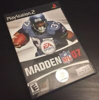 MADDEN 2007 PLAYSTATION 2 PS2 COMPLETE CIB W/ BOX, MANUAL  NFL GAME