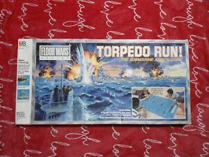 Vintage Torpedo Run Complete Board Game Milton Bradley Floor Wars Series MB 4740