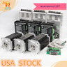 USA free!Wantai 3Axis Nema34 Stepper Motor 1232oz-in 5.6A 4-Lead& Driver CNC Kit