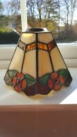 Tiffany heavy small pendent 5 sided lamp shade in very good condition