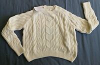 Stradivarius Women's White Knit Jumper Size S Small New With Tags