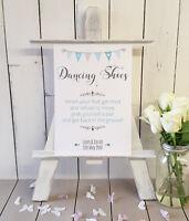 Personalised Flip Flops dancing shoes wedding sign print A4
