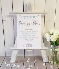 Personalised Flip Flops dancing shoes wedding sign print