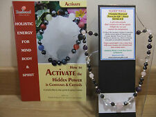 SLEEP WELL Holistic - Hand-Made 18 inch Esoteric Gemstone Necklace plus a book.