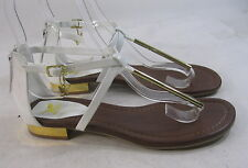new ladies Summer White/Gold Womens Shoes Ankle Straps Sexy Sandals Size 7