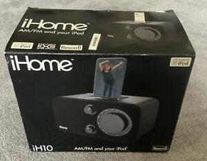 NEW iHome iH10 AM/FM Radio Dock System for iPod - Black