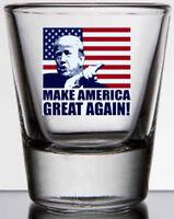 Trump MAGA 2 oz. whiskey / shot glass NEW