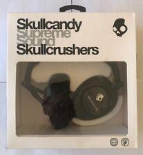 Skullcandy Skullcrushers Supreme Sound Headphones with Subwoofers in Black - New