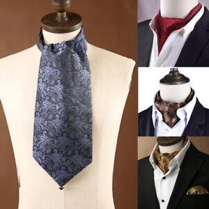 Herren Mode Paisley Punkte Seide Halstuch Schals Hochzeit Party Krawat PEZ