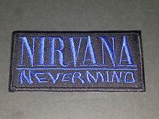HEAVY METAL PUNK ROCK MUSIC SEW / IRON ON PATCH:- NIRVANA (b) NEVERMIND STRIPE