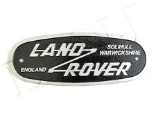 LAND ROVER SOLIHULL OVAL GRILLE BADGE SERIES & DEFENDER ALUMINIUM PLATE