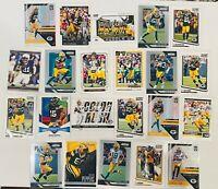 Green Bay Packers (22) Card Lot Aaron Rodgers Favre DaVante Adams Prizm Legacy