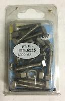 LABOR 10 PZ bullone testa esagonale con dado in acciaio inox 6x25 mm cod. 729268