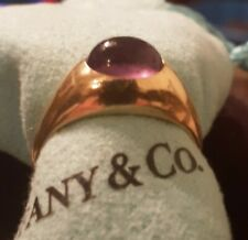 Tiffany & Co Amethyst 14k Yellow Gold Ring Size 5