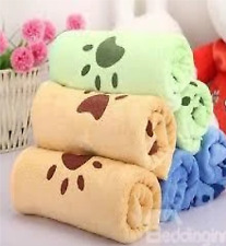 Soft & Comfortable Baby Bath Towel With Foot Prints Design In Different Colours