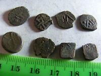 Lot of 8 ANTIQUE Ottoman/Muslim Copper Coins,mixed good condition used.(M).