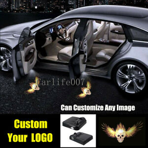 2PCS Customize Your Logo Led Car Door Laser Projector Step Ghost Shadow Light