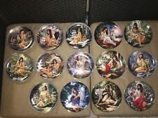 Collectible Native American Wolf Plates Set of 14