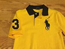 Polo Ralph Lauren big pony #3 rugby shirt 5 6 7 Small Medium orange yellow blue