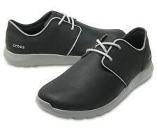 Men Crocs Kinsale 2 Eye Leather Slip-On 204695-05M Black Smoke 100% Original New
