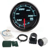 52mm 7 Colors LED Oil Temp Temperature 100-300 Fahrenheit Degree Gauge Meter