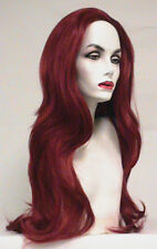JEAN FIRE RED WOMAN LONG JEAN GREY PHOENIX X-MEN 3 SUPERHERO COSTUME WIG HAIR