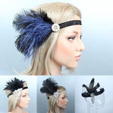 Women's Elastic Feather Headband Hair Band Party Elegant Headpiece Headdress