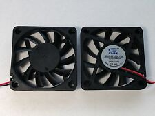 2 pcs 60mm 10mm 24V Cooling Case Fan 6010 PC Computer CPU 6cm 60x60x10mm 2-Pin