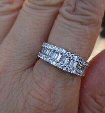 right-hand ring 14k Wg 1.20ct G/Vs-Si1 baguette diamond wedding