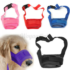 UK Puppy Stop Chewing Barking Muzzle Safety Soft Adjustable Pet Dog Mouth