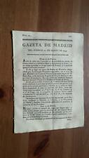 1793 Gazeta de Madrid Núm 24 del Viernes 22 Marzo Bonn Haya Londres Paris