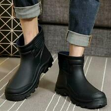 Mens Waterproof Rubber Ankle Rain Boots fishing outdoor Wellies shoes Ankle Boot