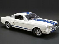 ACME 1:18 1966 Shelby GT 350 Supercharged & Blue Stripes Diecast White A1801833