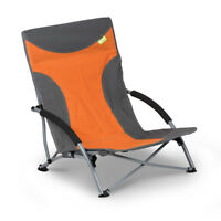 Kampa Sandy Low Level Beach & Camping Chair - Burnt Orange