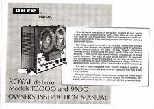 Uher User manual Bedienungsanleitung für 10000 /10,000 / 9500 Royal de Luxe Copy
