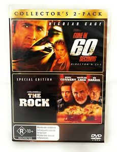 Gone in 60 Seconds Director's Cut & The Rock Special Edition DVD R4 Free Post
