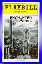 Playbill + Enchanted April + Molly Ringwald, Michael Hayden, Dagmara Dominczyk
