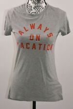 Zoe Liv Juniors Graphic Funny T-shirt Tee Grey Size Small