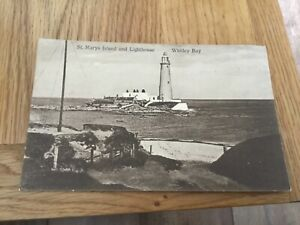 Postcard : St. Mary's Island and Lighthouse, Whitley Bay.