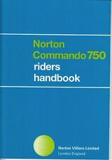 1969-73 Norton Commando Fastback, OEM, Owners Riders Manual