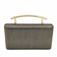 c4771b5710 Herringbone Top Handle Women Evening Clutch Bag Chain Shoulder Crossbody  Handbag