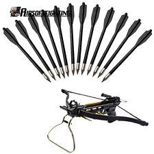 12pcs Crossbow Bolt Arrow Bow Arrows Archery 50lb For Shooting Hunting Black
